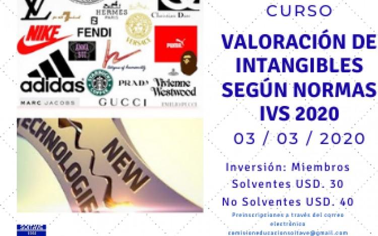 CURSO DE VALORACIÓN DE INTANGIBLES SEGÚN NORMAS IVS 2020 - 03/03/2020