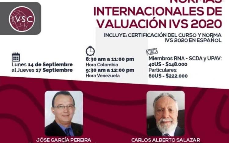 CURSO R.N.A., NORMAS INTERNACIONALES DE VALUACIÓN IVS 2020